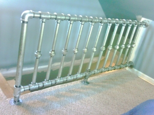 Pipe Railing - Industrial design at it's finest